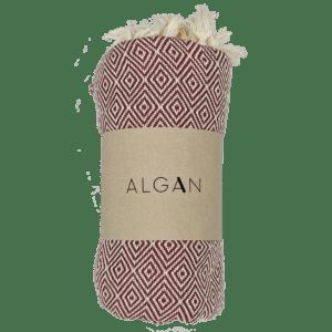 Algan – Elmas hamamhåndklæde, Mørk Terrakotta