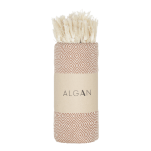 Algan – Elmas hamamhåndklæde, Brun