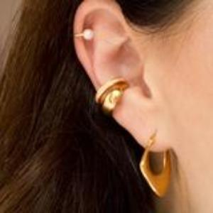 Earcuff – Bling – Gold – ByFossdal