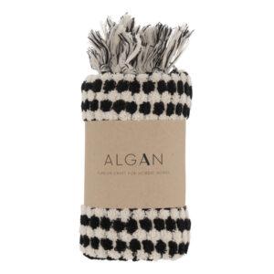 Ahududu håndklæde sort