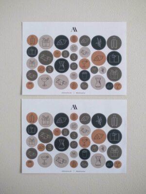 Atelier Aarhus ikon stickers