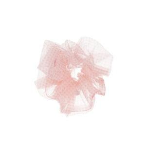 By stær scrunchie ternet lyserød