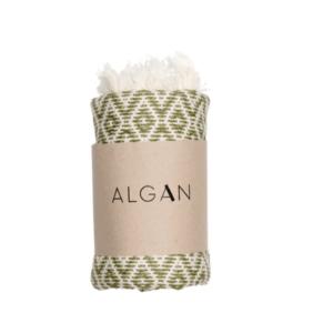 Algan – Sumak hamamhåndklæde – Olivengrøn
