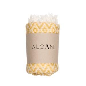 Algan – Sumak hamamhåndklæde – Gul