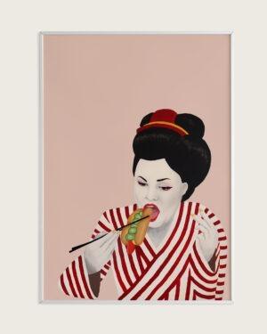 Plakat sulten geisha taisho