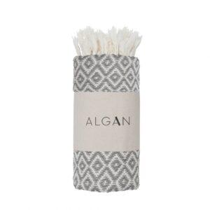Algan – Sumak hamamhåndklæde – Grå