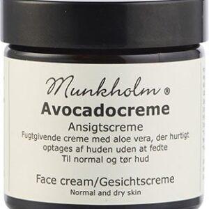 Ansigtscreme med avocado fra Munkholm