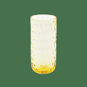 Kodanska longdrink glas gul