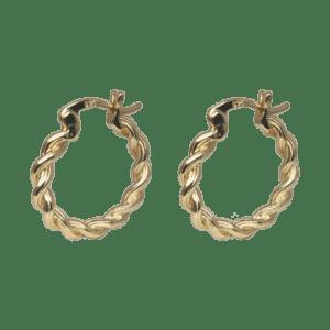 Hoops – snoede i forgyldt sølv – fra By Stær
