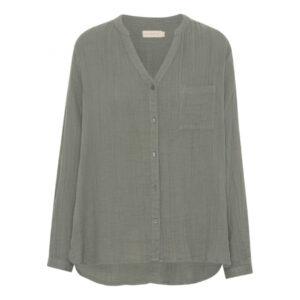 Skjorte i økologisk bomuld – Better shirt – Masala – Mos